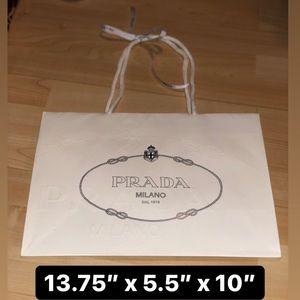 PRADA Shopping Bag + Ribbon
